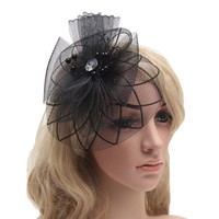thumb-Chique Paarse Fascinator-2