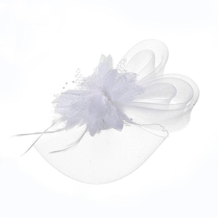 Chique Witte Fascinator-2