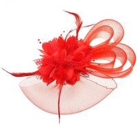 thumb-Chique Rode Fascinator-2