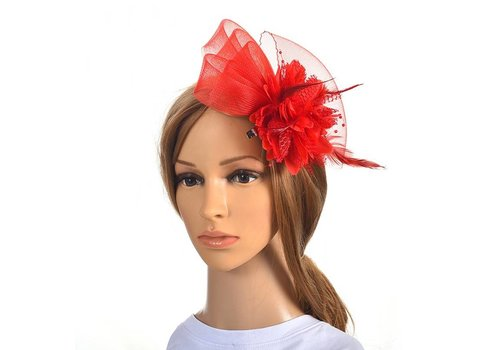 Chique Rode Fascinator