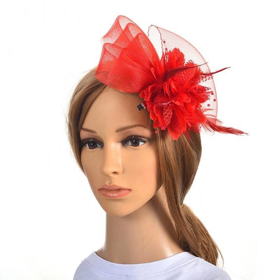 Chique Rode Fascinator-1