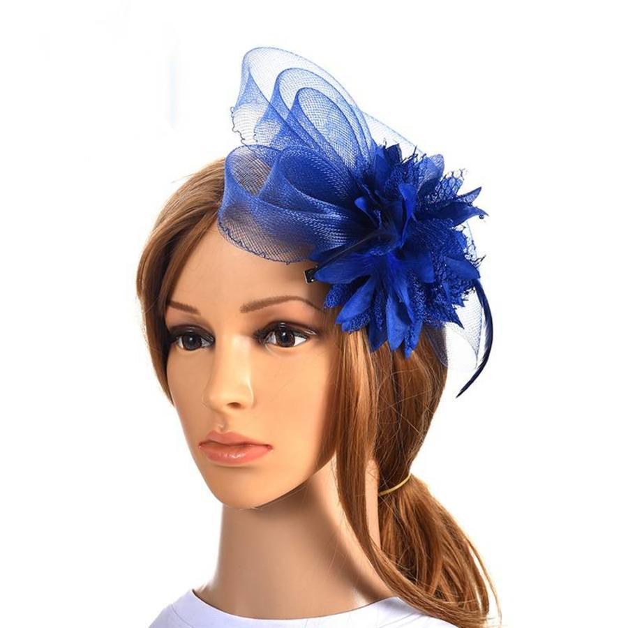 Chique Blauwe Fascinator-1