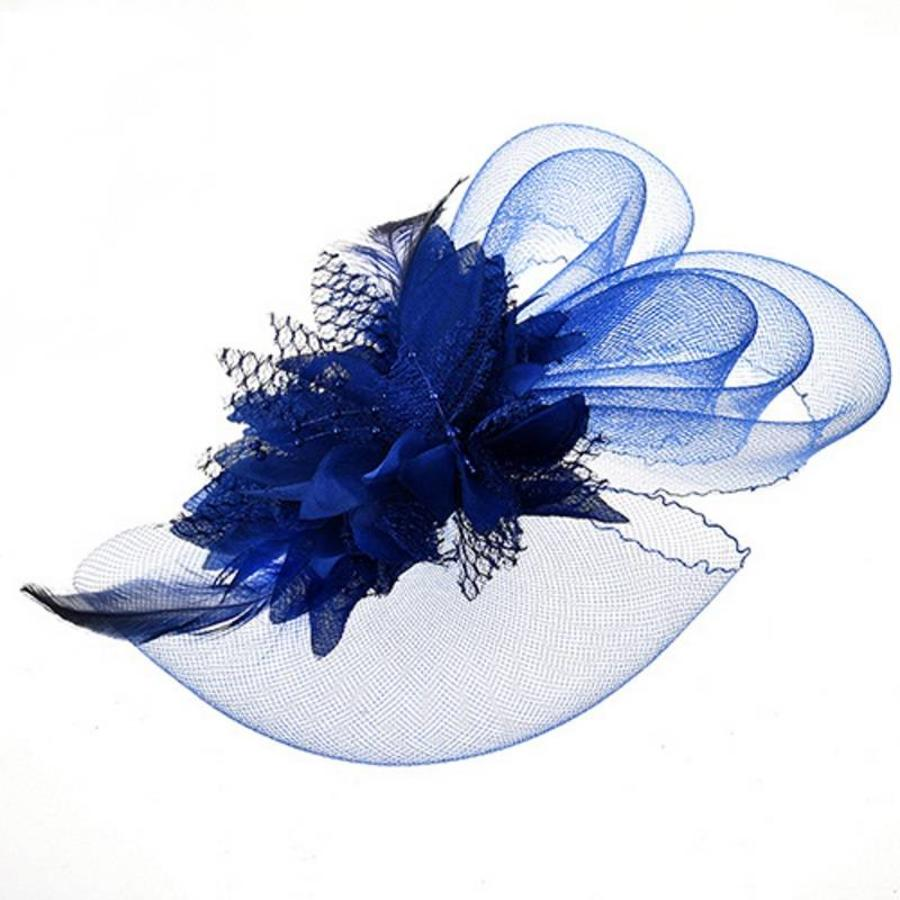 Chique Blauwe Fascinator-2