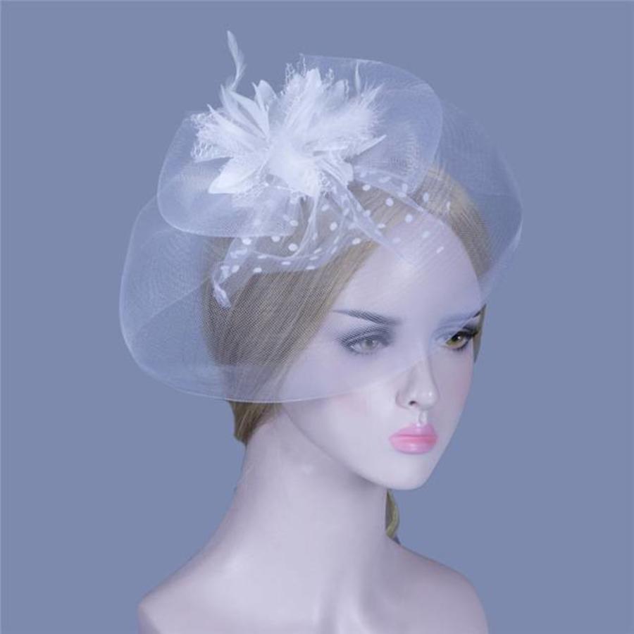 Elegante Witte Fascinator-1