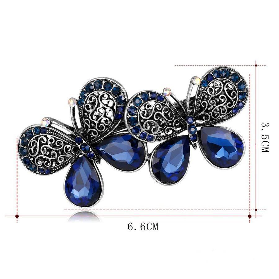 Stijlvolle Haarclip Butterfly - Blauw-4