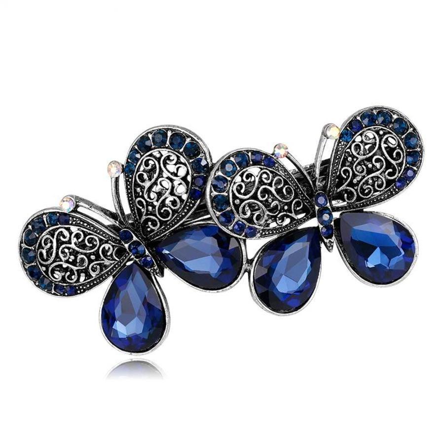 Stijlvolle Haarclip Butterfly - Blauw-1