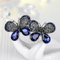 thumb-Stijlvolle Haarclip Butterfly - Blauw-3