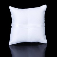 thumb-Ringkussen Wit met Fonkelende Hartjes-2