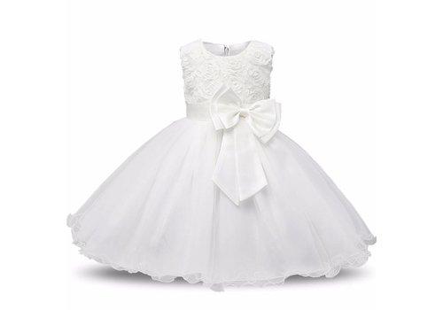 Communiejurk / Bruidsmeisjesjurk - Gia - Wit / Off White - Maat 134/140