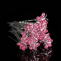 thumb-Hairpins – Butterfly - Licht Roze - 5 stuks-1