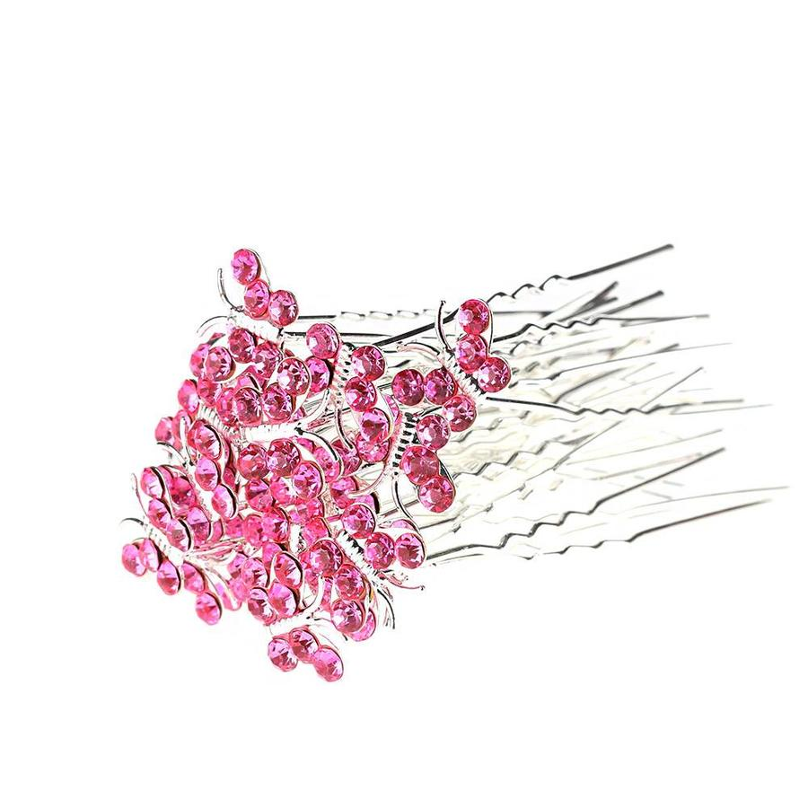 Hairpins – Butterfly - Licht Roze - 5 stuks-2