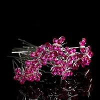 thumb-Hairpins – Butterfly - Roze - 5 stuks-1