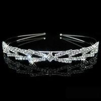 Elegante Diadeem - Strik en Fonkelende Kristallen