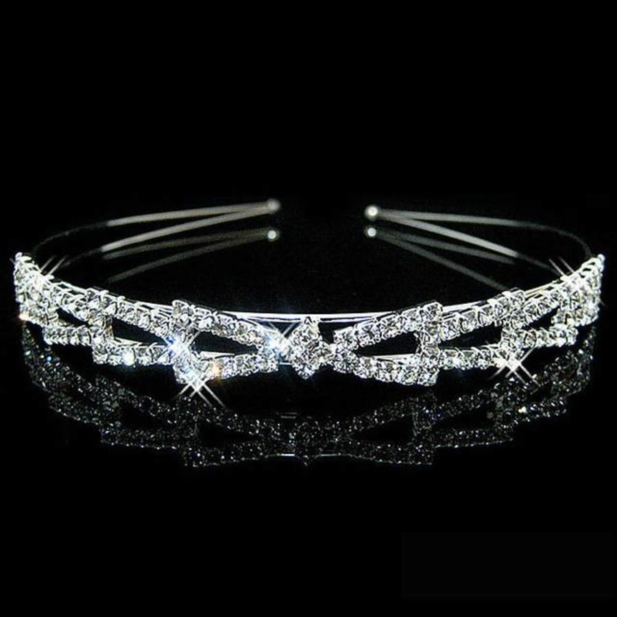 Elegante Diadeem - Strik en Fonkelende Kristallen-1
