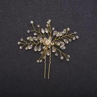 thumb-Hairpin Goudkleurig met Kristal Kralen-2