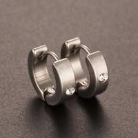 thumb-Stijlvolle Oorbellen met Diamantje-1