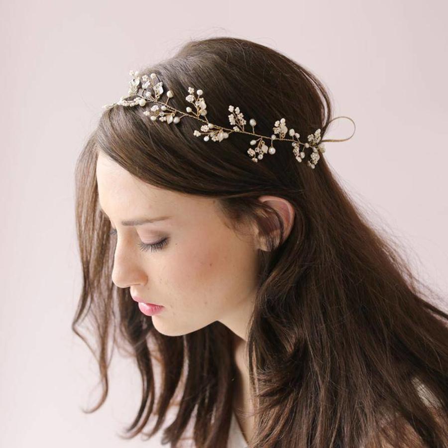 Elegant Goudkleurig Haar Sieraad-1