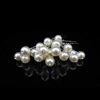 thumb-Hairpins – Pareltje Ivoor met 'Diamantje' - 5 stuks-2
