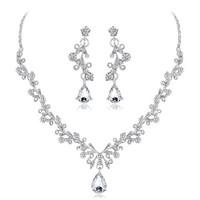 thumb-PaCaZa - Sieraden Set Diamond (Ketting & Oorbellen)-6