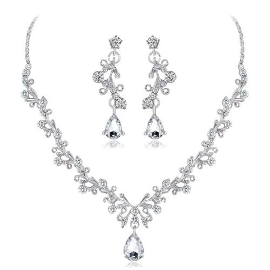 PaCaZa - Sieraden Set Diamond (Ketting & Oorbellen)-6