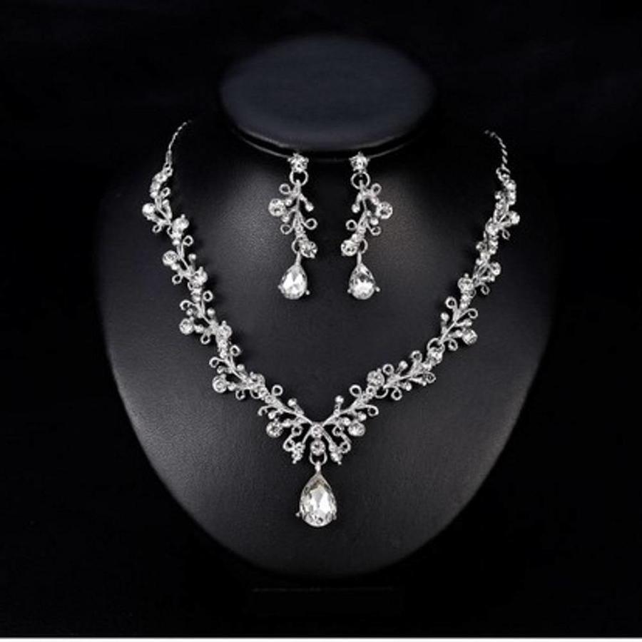 PaCaZa - Sieraden Set Diamond (Ketting & Oorbellen)-4