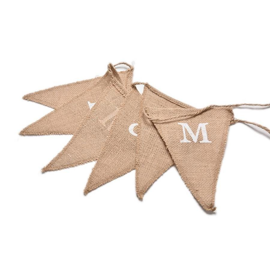 Mr & Mrs Jute Slinger - Bruiloft Decoratie-3