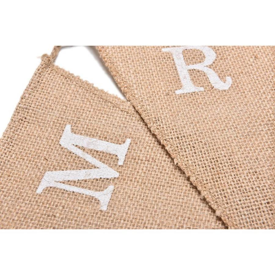 Mr & Mrs Jute Slinger - Bruiloft Decoratie-6