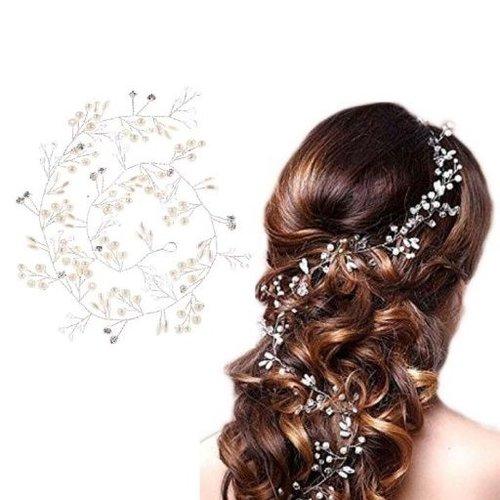 Elegant Zilverkleurig Haar Sieraad
