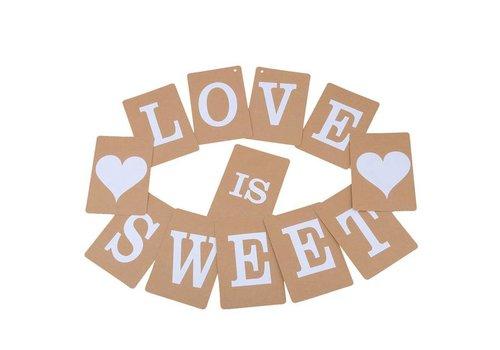 LOVE IS SWEET Slinger - Bruiloft Decoratie