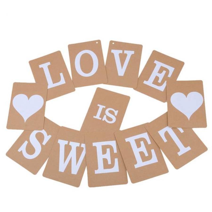 LOVE IS SWEET Slinger - Bruiloft Decoratie-1