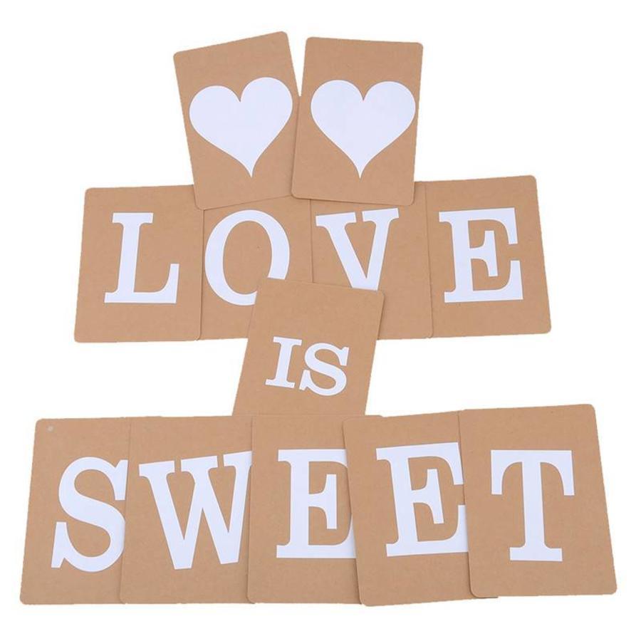 LOVE IS SWEET Slinger - Bruiloft Decoratie-3