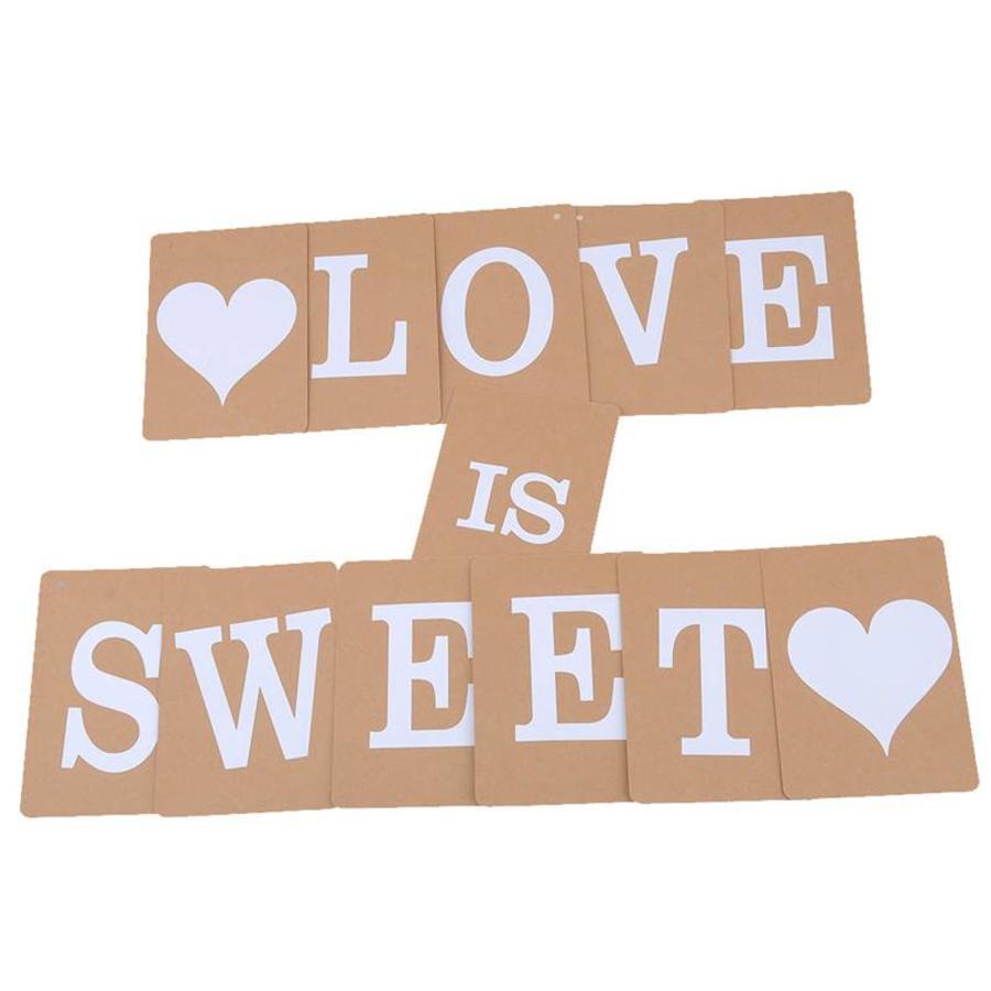 LOVE IS SWEET Slinger - Bruiloft Decoratie-5