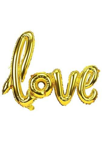 LOVE - Helium Ballonnen - Goud