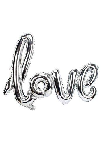 LOVE - Helium Ballonnen - Zilver