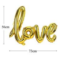 thumb-LOVE - Helium Ballonnen - Brons-4