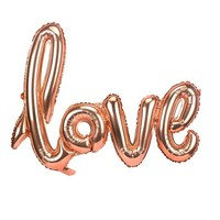 thumb-LOVE - Helium Ballonnen - Brons-1
