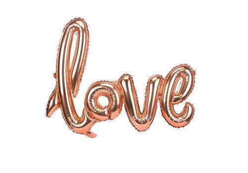 LOVE - Helium Ballonnen - Brons