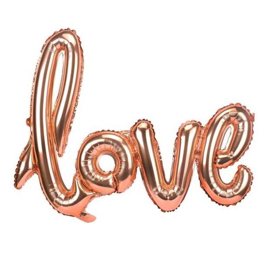LOVE - Helium Ballonnen - Brons-1
