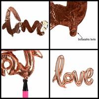 thumb-LOVE - Helium Ballonnen - Brons-3