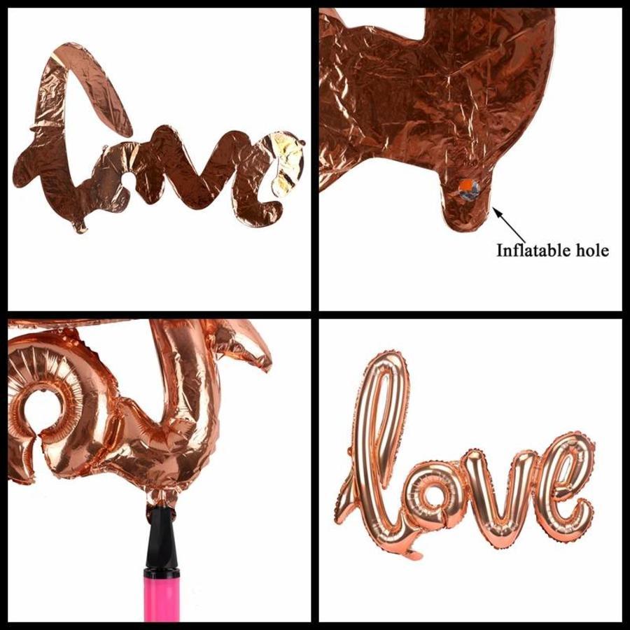 LOVE - Helium Ballonnen - Brons-3