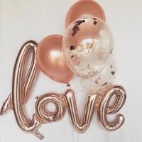 thumb-LOVE - Helium Ballonnen - Brons-8