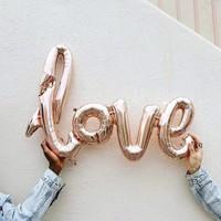 thumb-LOVE - Helium Ballonnen - Brons-2