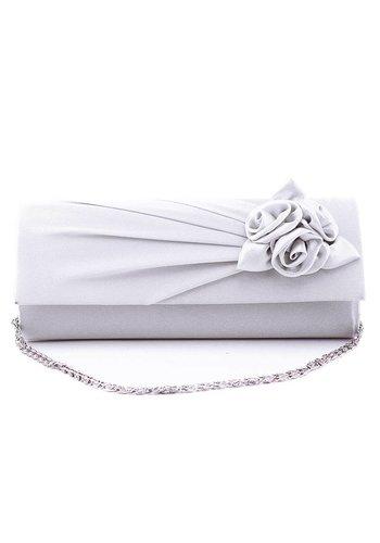 Bruidstasje Flower - Off White - Clutch