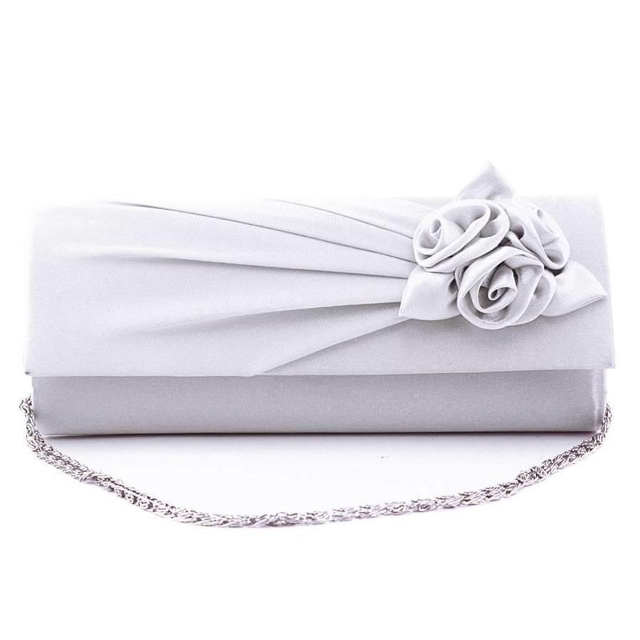 Bruidstasje Flower - Off White - Clutch-1