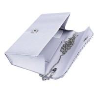 thumb-Elegant Bruidstasje - Clutch - Zilver-2