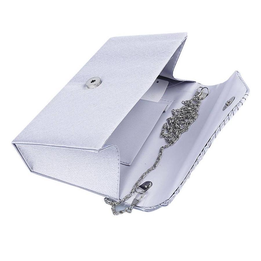 Elegant Bruidstasje - Clutch - Zilver-2
