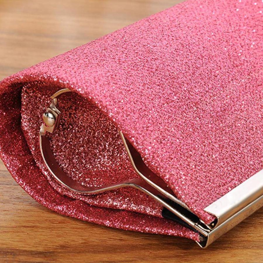 Bruidstasje Glimmend Roze - Clutch-4