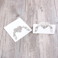 thumb-Tafelkaartjes / Plaatskaartjes - 50 stuks - Off White - Hart-6