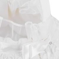thumb-Bloemenmandje / Strooimandje Wit met Roosjes-5