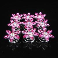 thumb-Fonkelende Curlies Flower Roze - 6 stuks-2